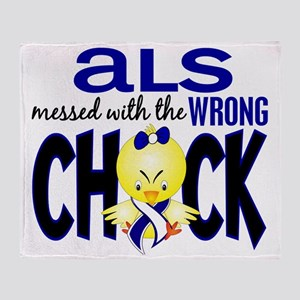 - ALS Messed With Wrong Chick Throw Blanket